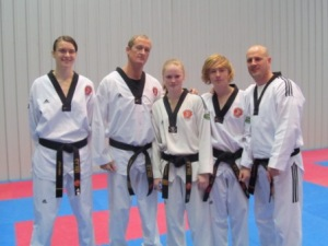 Instructors Nissah, Patrick, Monika, Kris and Adam